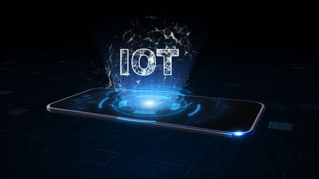 Smart Phone of 5g High speed internet network Communication, Internet of things IOT concept, Technology digital for Internet Business and Marketing, Global World Network and Telecommunication