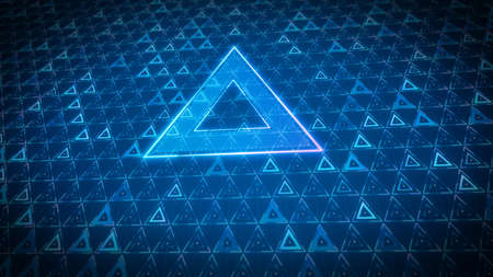 Triangle design of future technology digital geometric abstract background concept Imagens