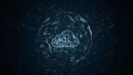 Cyber security digital data network, Technology internet and big data of cloud computing using artificial intelligence, 5g high-speed connection data analysis, Futuristic digital abstract background.