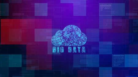 Digital cloud computing, Technology digital data futuristic abstract background Imagens