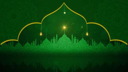 Eid Al Adha Mubarak and Traditional Lanterns Ramadan Islamic, Muslim community festival background