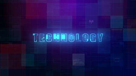 Technology digital data futuristic abstract background