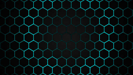 Design of future surface with hexagon technology abstract background