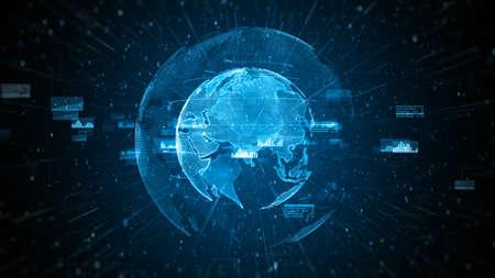 Global network 5g High speed internet communication, Technology network digital data connection and Internet marketing background