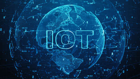 Global network 5g High speed internet communication, Internet of things IOT concept, Technology network digital data connection and Internet marketing background