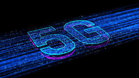 5g High Speed Internet Connection of Internet of things IOT, Technology Network Digital Data and Social network worldwide Connection Background Concept.