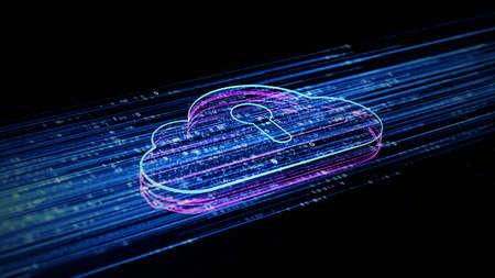 Digital cloud computing using artificial intelligence. Futuristic technology internet and big data 5g connection. Cybersecurity digital data background Фото со стока