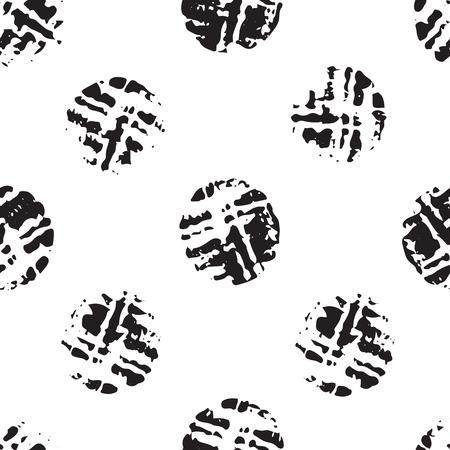 Vector wine cork stain circle, black and white Illusztráció