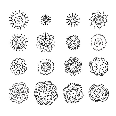 Hand drawn decorative elements, doodle set, vector collection for design, bullet journal elements 矢量图像