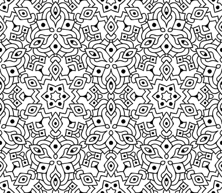 Ethnic seamless pattern, graphic vector ornament, transparent background Vettoriali