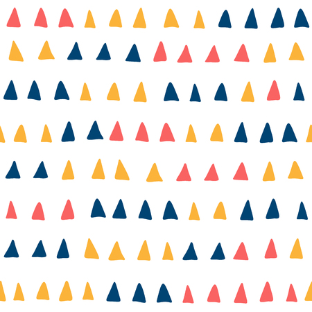 Seamles pattern with colored triangles on transparent backdrop