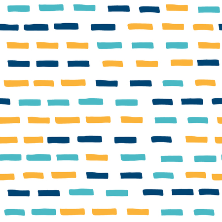 Colored dashes, seamless pattern, transparent background