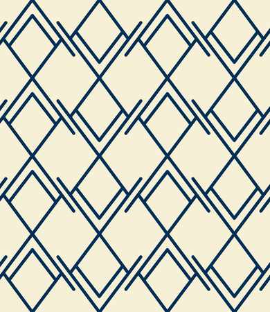 Abstract seamless pattern, rhombuses and lines, geometric backdrop Vettoriali