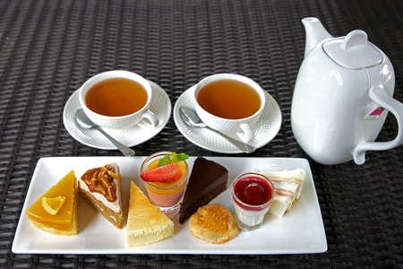 teaset: Tea-Set in morning delicious
