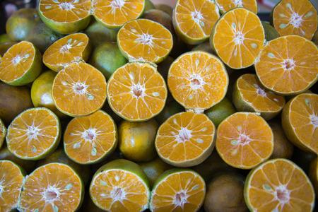bisected: Oranges wallpaper Stock Photo