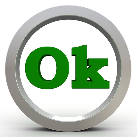 Ok Button Stock Photo