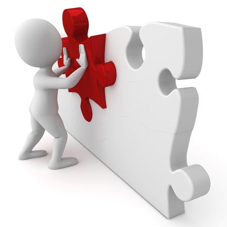 figuras abstractas: Pepe Rojo Puzzle