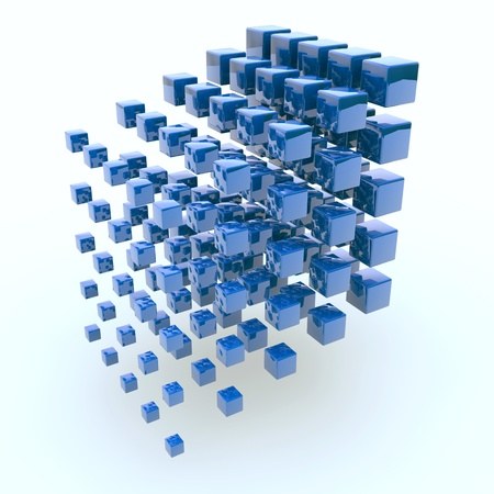 Blue cubes Stock Photo