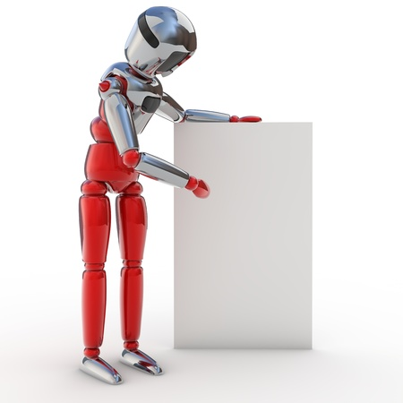 Robot poster Stock Photo - 12470011