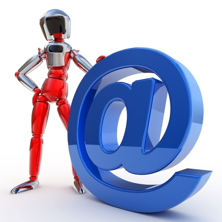 Arroba Blue Robot Stock Photo - 12470580