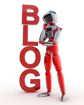 Robot Blog Stock Photo - 12470563