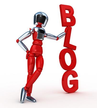 Blog vertical Stock Photo