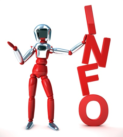 robot info Stock Photo - 12470012