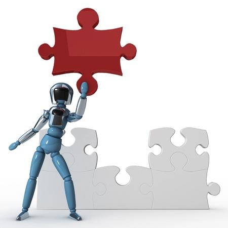 Puzzle robot Stock Photo - 12470007