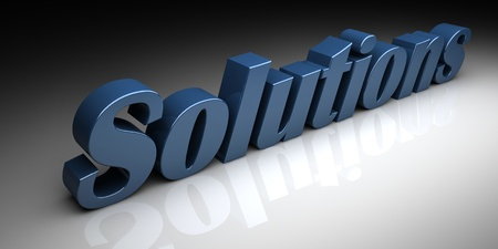 3d text solutions Stock Photo