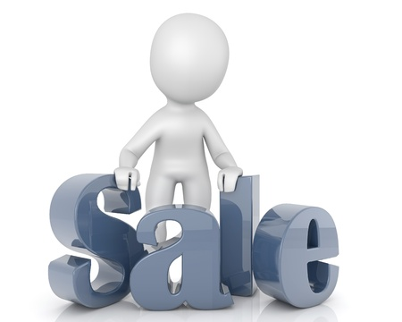 character 3D text Sales Stock Photo