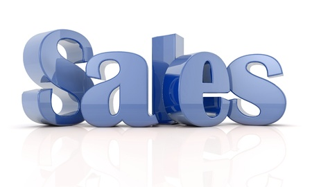 3d text sales Blue Stock Photo