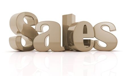 3d text sales Re Stock Photo