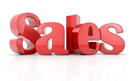 3d text sales R Stock Photo
