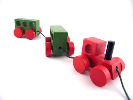 pull toy: Tren de juguete con 3 partes unidas por cadena