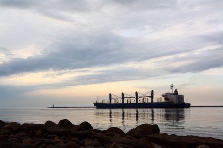 Ship going to sea Stock Photo - 4901295