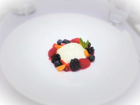 gusto: As a hotel dinner dessert Panna cotta
