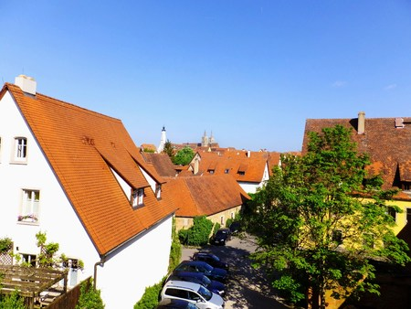 age 5: Rothenburg from the walls of houses Stock Photo