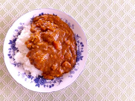 米トマト カレー ライス 写真素材