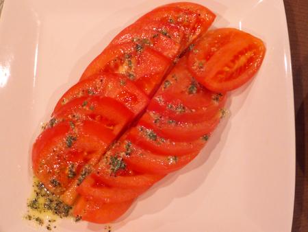 lycopene: Tomato basil sauce Stock Photo