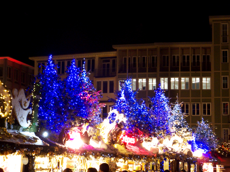 emerge: Stuttgarts Christmas lights Stock Photo