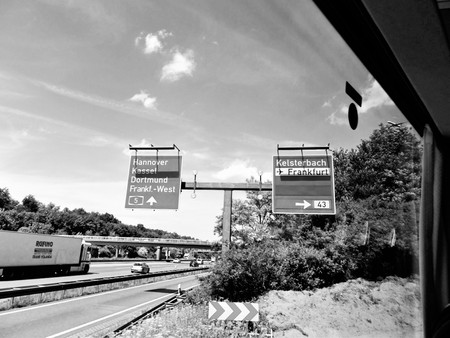 autobahn: Black and white landscapes of the Autobahn