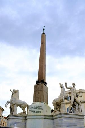 The obelisk in the Piazza del Quirinale