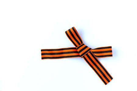 St. George ribbon on a white isolated layer, icon