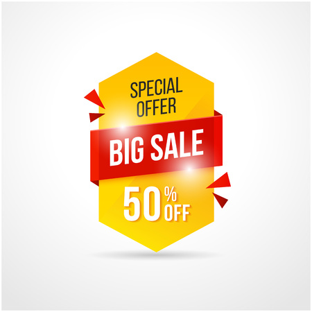 Abstract big sale background banners with overlay shadow style, clean and modern design. Vector eps 10. Ilustração