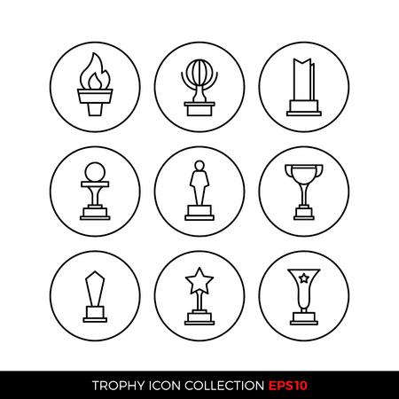 Set of premium award icons. eps10 vector illustration