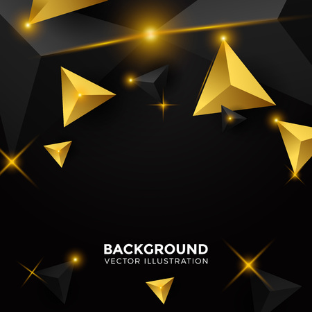 Abstract shiny black Triangle Background. 3D Triangles. Modern Wallpaper. Vector illustration