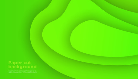 3D abstract background with paper cut shapes. Vector design layout for business presentations, flyers, posters and invitations. Colorful carving art green