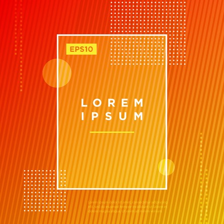 Abstract Minimal geometric vector multicolored background with dots and strip lines. Dynamic shapes composition. Eps10 vector