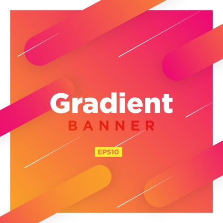 Abstract Minimal geometric vector multicolored background with shadow and lines. Dynamic shapes composition. Eps10 vector