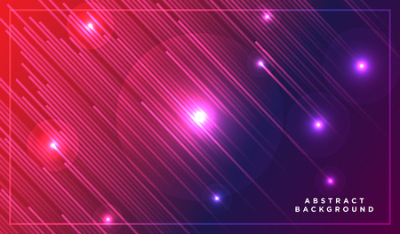 Diagonal stripes vector lines falling with shadow and glowing light illustration. Space and stars on dark purple pink background. Beautiful magic backdrop with text placeholder for your design